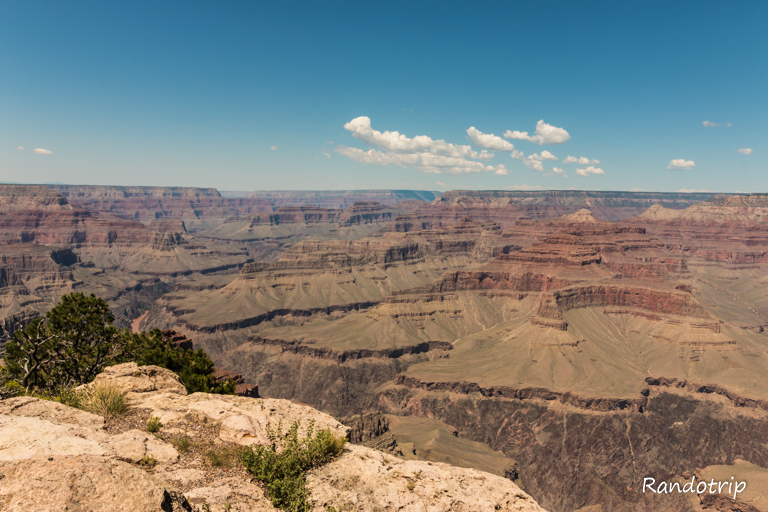 Point de vue sur le Grand Canyon en Arizona aux Etats-Unis
