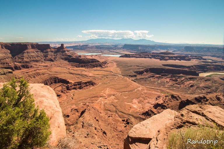Un point de vue à Canyonlands National Park, parc de l'Utat près de Moab