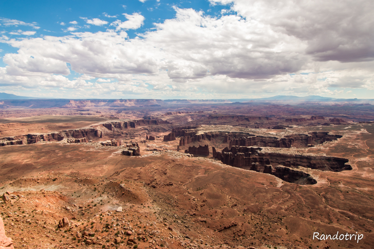 Un point de vue (grandview point overlook) à Canyonlands National Park, parc de l'Utat près de Moab