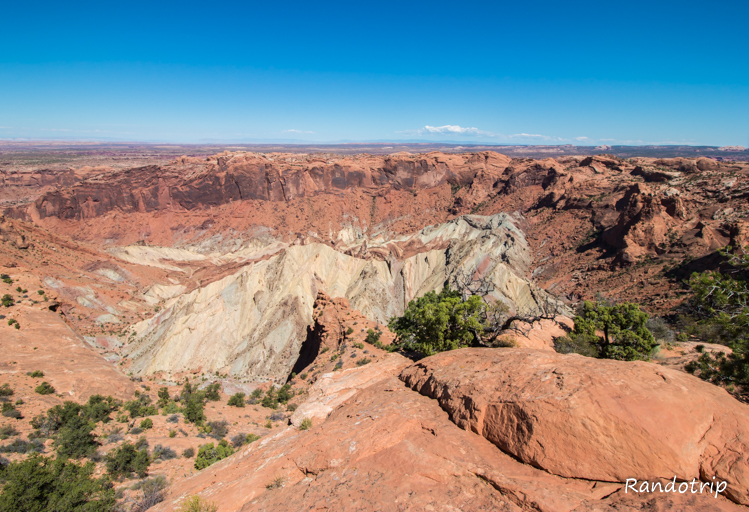 Un point de vue (upheaval dome) à Canyonlands National Park, parc de l'Utat près de Moab