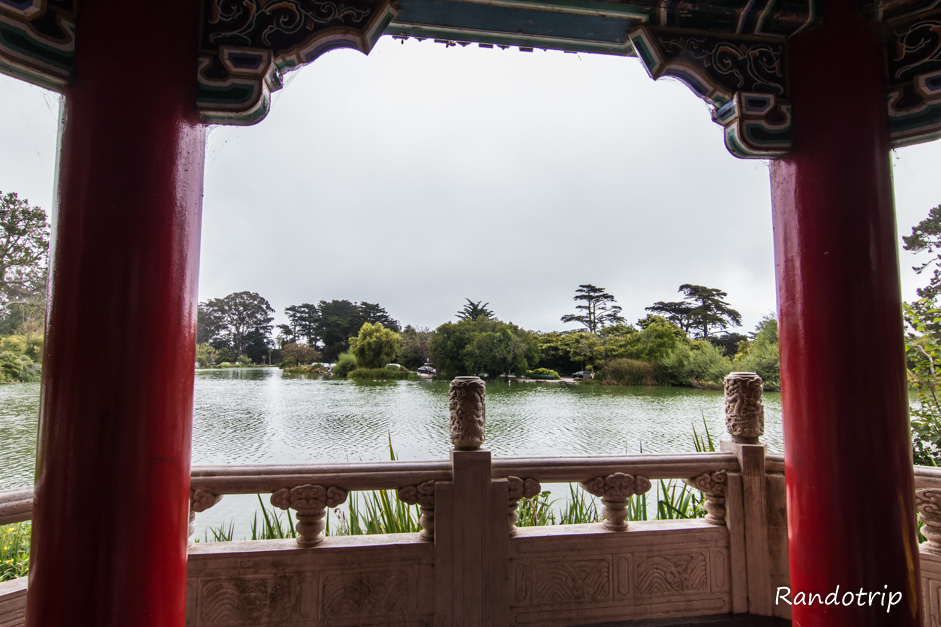 Vue sur le lac au Golden Gate Park à San Francisco