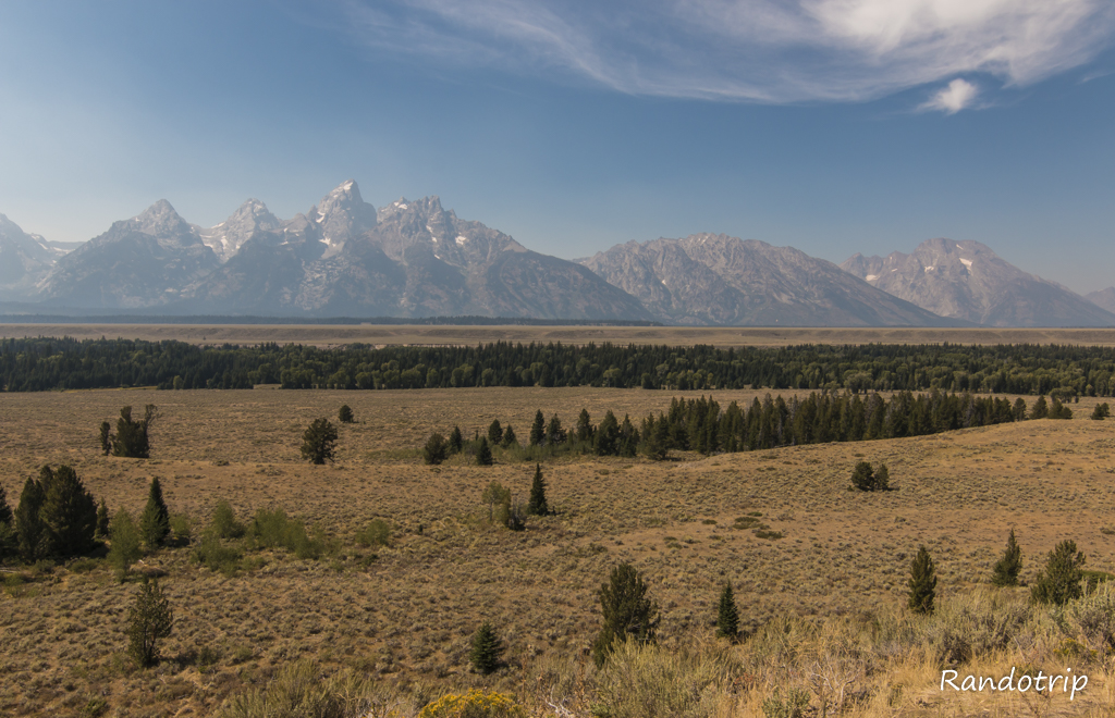 Panorama à Grand Teton National Park dans le Wyoming