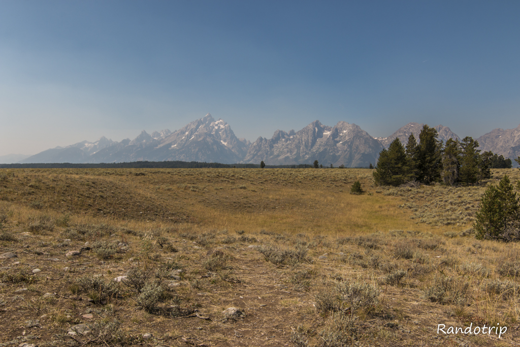 Le point de vue de Pothole Turnout à Grand Teton National Park dans le Wyoming