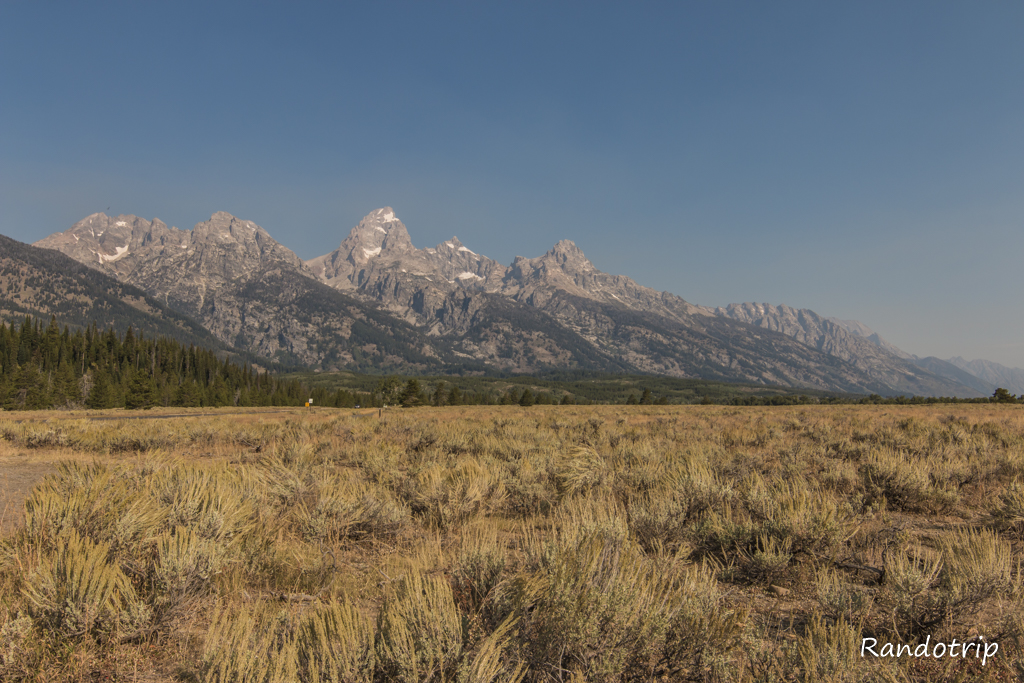 Les Tetons de Grand Teton National Park dans le Wyoming