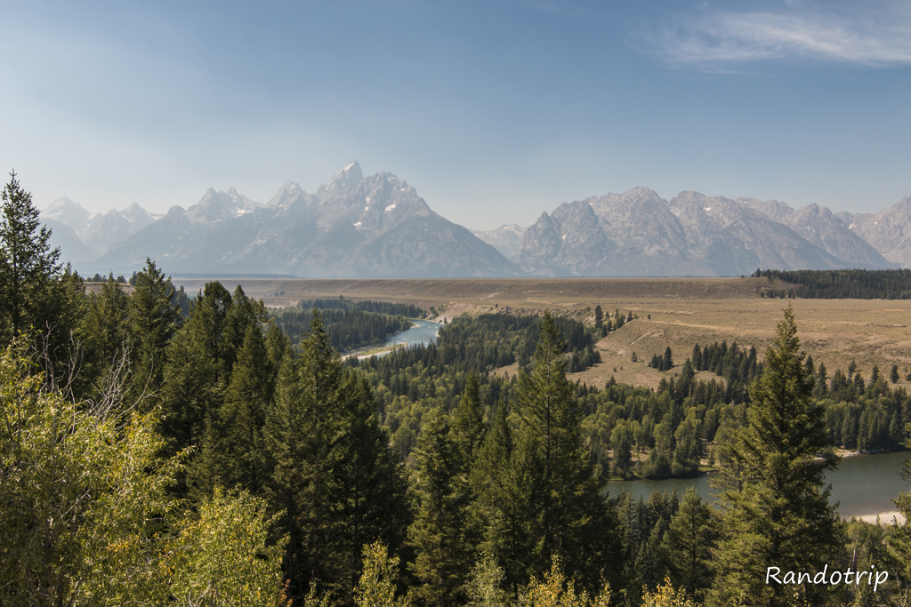 Le Snake River Overlook à Grand Teton dans le Wyoming