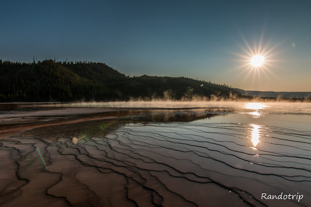 Grand Prismatic à Yellowstone dans le Wyoming