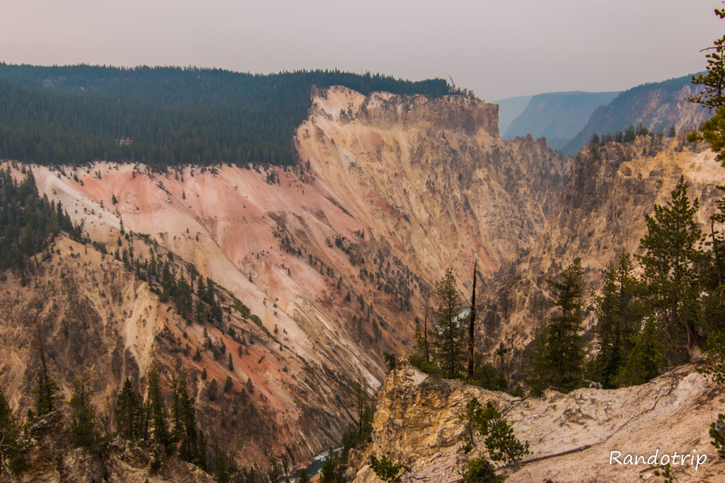 Artist Point au Grand Canyon de Yellowstone