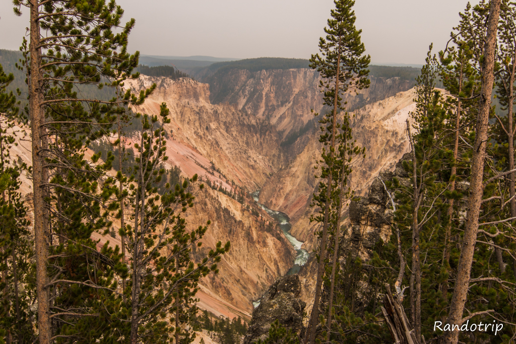 Grand View Point au Grand Canyon de Yellowstone