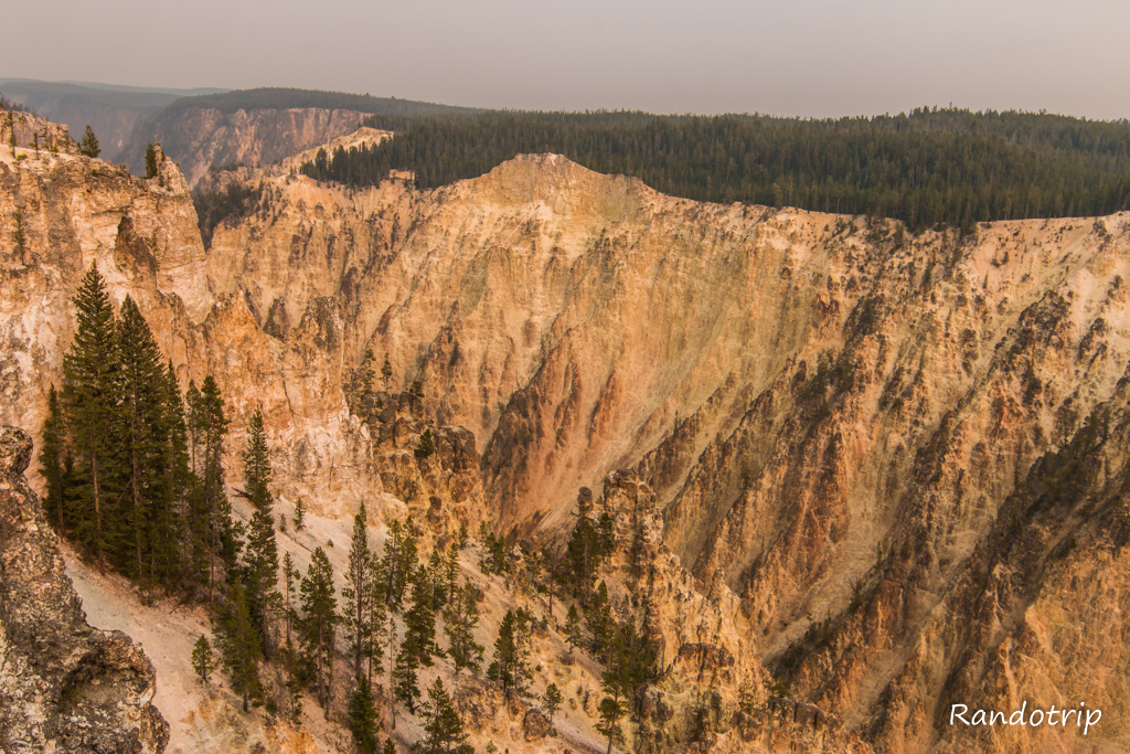 Lookout Point au Grand Canyon de Yellowstone