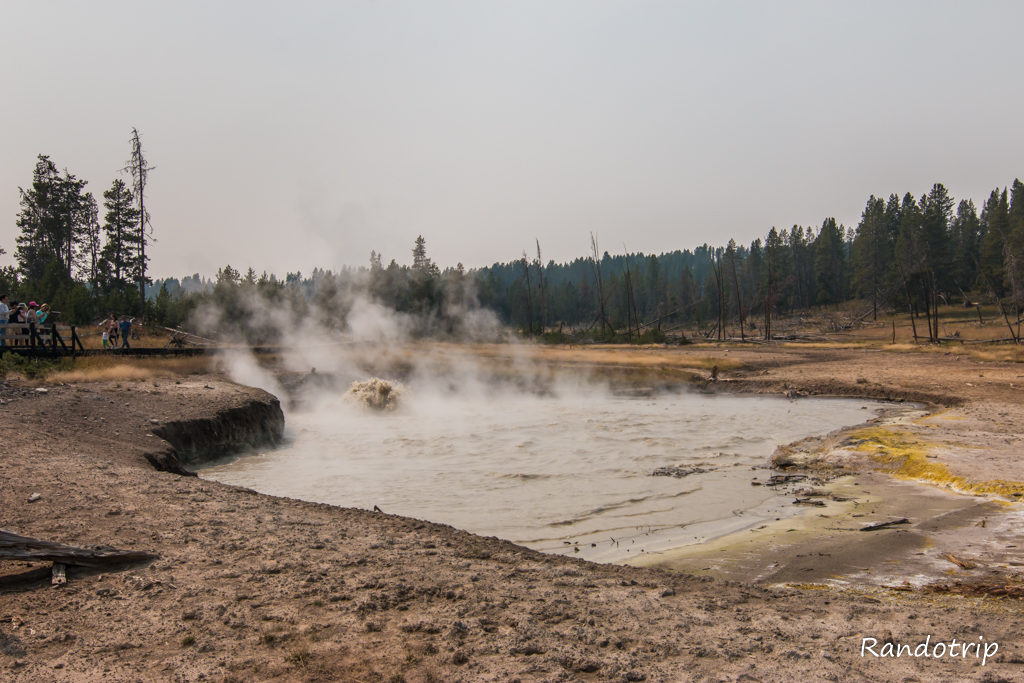 La partie Mud Volcano de Yellowstone dans le Wyoming