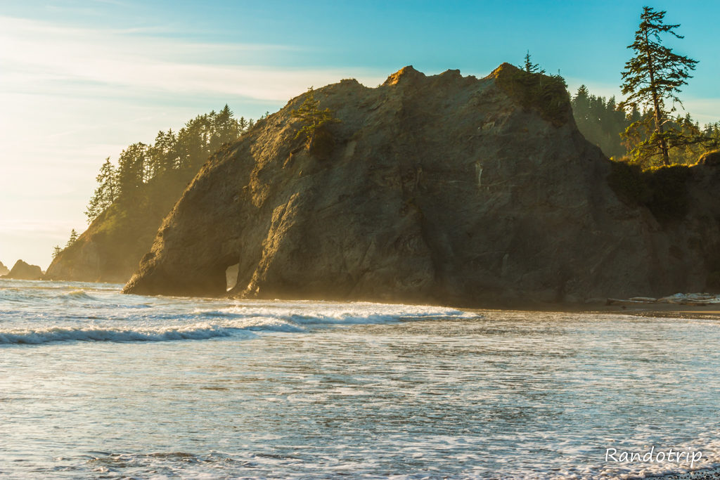 Rialto Beach à Olympic National Park dans l'Etat de Washington
