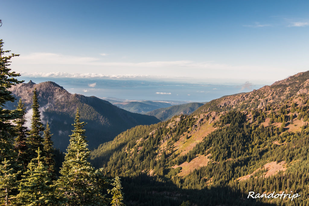 Point de vue sur l'océan depuis Hurricane Ridge (Olympic National Park) dans l'Etat de Washington