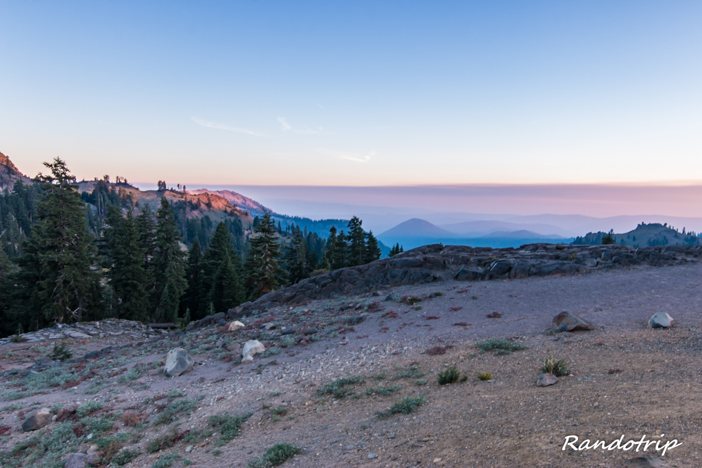 Coucher de soleil au Lassen Volcanic National Park en Californie