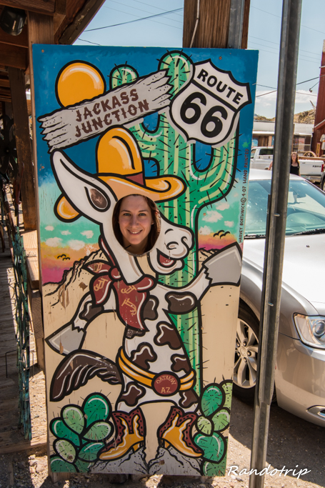 Oatman le long de la Route 66 en Arizona