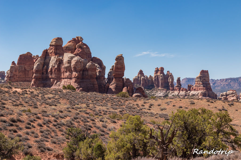 Sur le Chesler Park Trail dans Canyonlands-The Needles en Utah