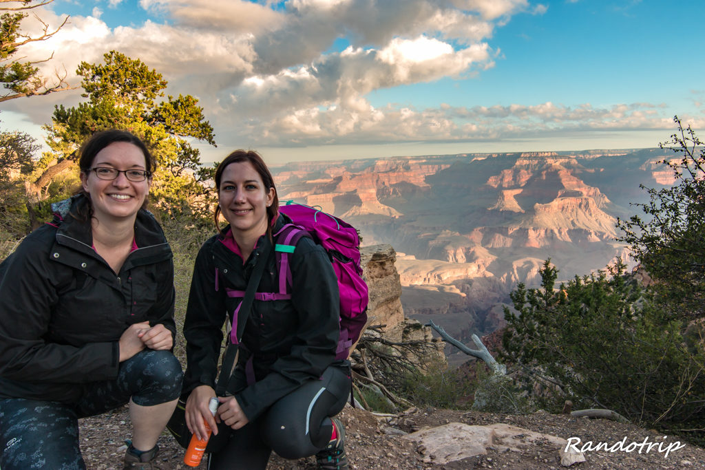 Début de rando au South Kaibab Trailhead au Grand Canyon dans l'Arizona