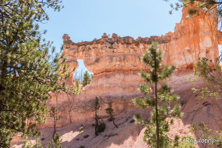 Le Tower Bridge pendant la randonnée de Fairyland Loop à Bryce Canyon dans l'Utah