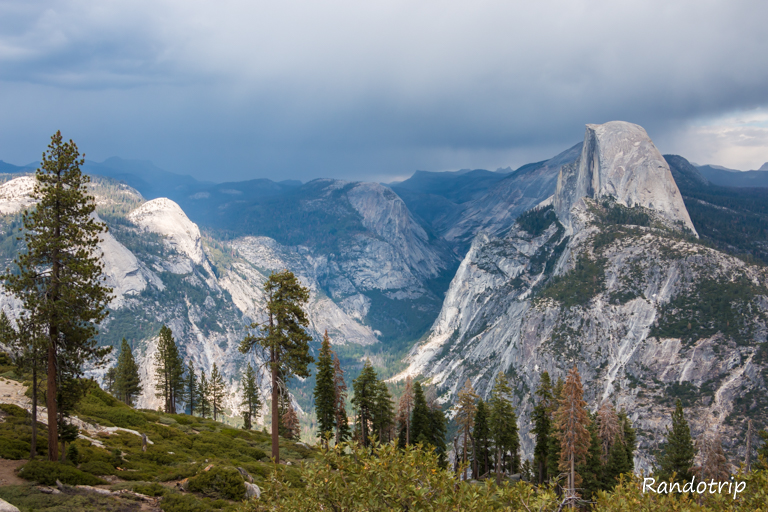 Point de vue sur la vallée de Yosemite