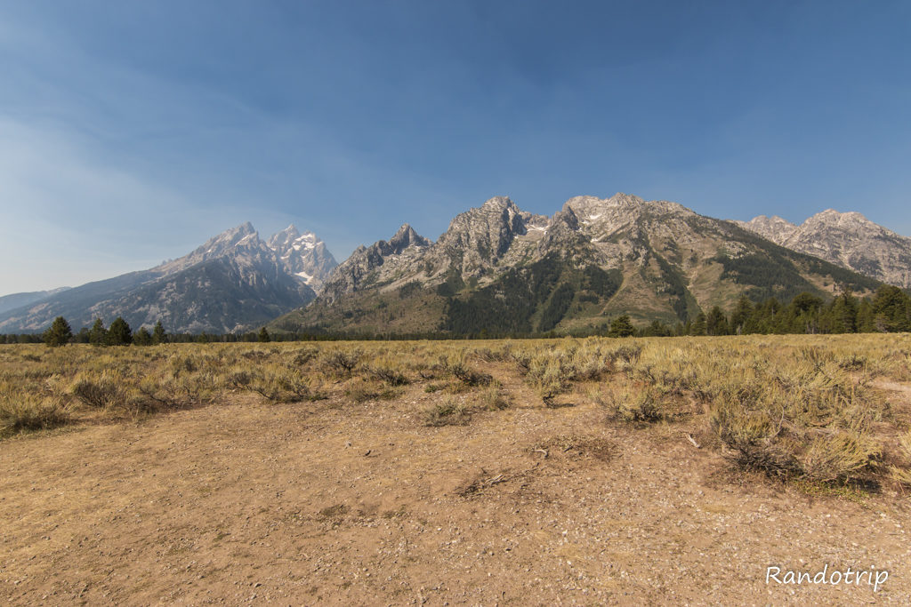 Le point de vue de Cathedral Group à Grand Teton National Park dans le Wyoming
