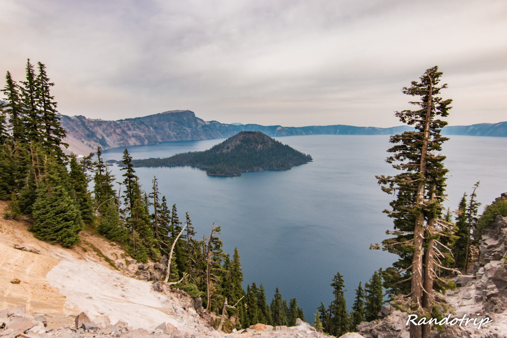 En route pour le Garfield Peak à Crater Lake dans l'Oregon