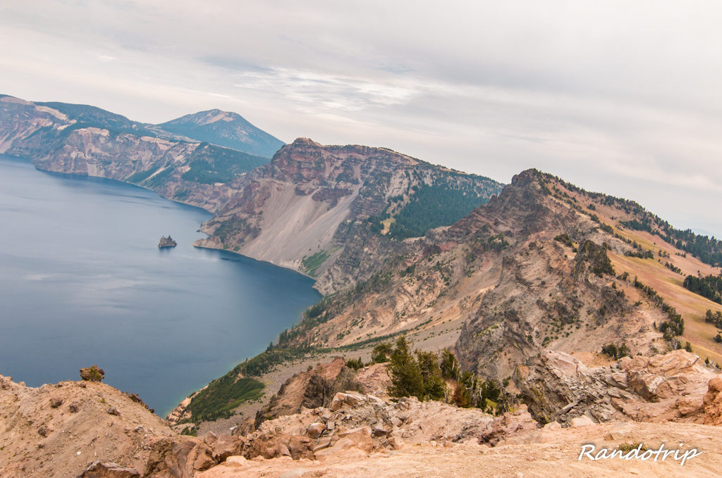 Au sommet du Garfield Peak à Crater Lake dans l'Oregon